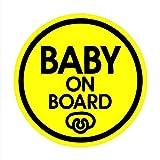 TOTOMO # ALI-025 Baby an Bord Magnet Aufkleber Sicherheit Vorsicht Zeichen für Auto Stoßstange - Baby Schnuller