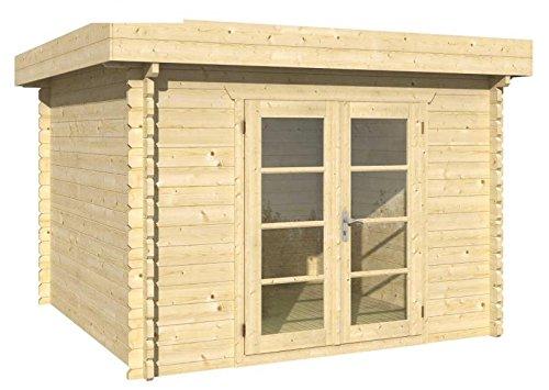Blockhaus DORTMUND 319 x 319cm Gartenhaus 45mm Holzhaus Gerätehaus