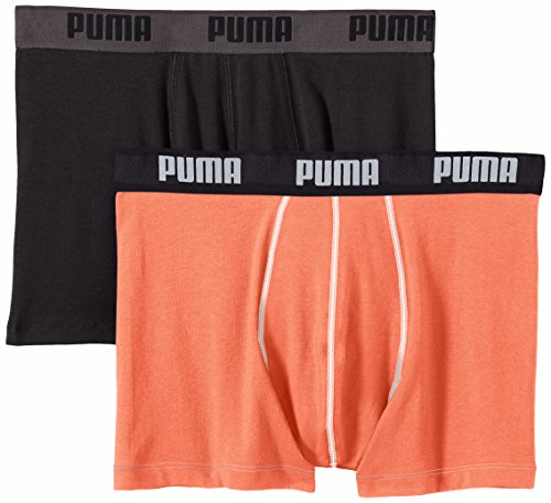 Running Shorts Coral (Puma Herren Boxershorts Basic 2er Pack, Hot Coral, S, 521015001)