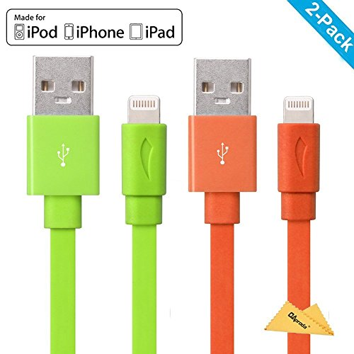 apple-mfi-certified-yellowknifer-2-pack-33ft-1m-different-colorful-attractive-noodle-flat-usb-to-lig