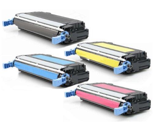 4er SET High Quality Eurotone Toner Cartridge kompatibel remanufactured für HP CLJ CP4005 CP4005N CP4005DN - Color Laserjet CP 4005 N DN 4005N 4005DN ersetzt CB400A CB401A CB402A CB403A - XXL-Kapazität - Black Cyan Magenta Yellow - Clj Cp4005 Serie