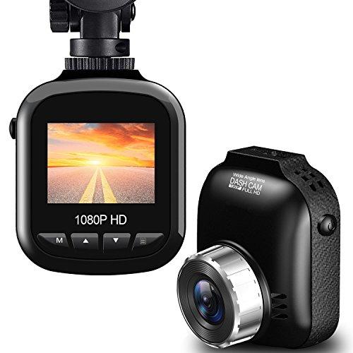 BUIEJDOG Dashcam Cámara de Coche Full HD 1080p Cámara para Coche Videocámara DVR G-Sensor, Ciclo de Grabación, Visión Nocturna,Monitor de Estacionamiento, Monitor de Movimiento
