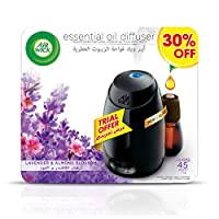 Air Wick Air Freshener Essential Oil Diffuser Kit, Lavender & Almond Blossom
