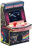 MGT Mobile Games Technology Retro Game: Handlicher Retro-Videogame-Automat, 200 Spiele, LCD-Farb-Display, Akku (Spielautomat)