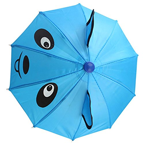 Decompression Toys, Saingace Umbrella Accessories For 18 inch American Girl /Baby Born Dolls Handmade (Sky Blue)
