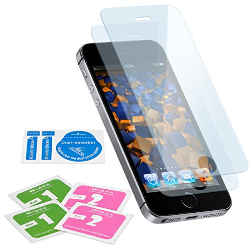 2x mumbi ECO Panzerglas für iPhone SE 5S 5 Panzerfolie Glasfolie