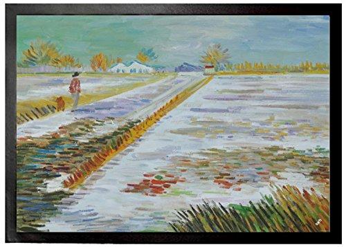 Vincent Van Gogh - Paisaje Con Nieve, 1888 Felpudo Alfombrilla (70 x 5