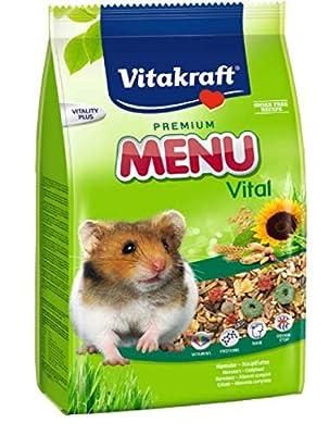 Vitakraft PREMIUM MENU FOR HAMSTERS 1KG - COMPLETE FOOD SUGAR-FREE from LEEWAY