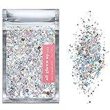 Silber Holografisch Chunky Make-Up Glitzer (15g) - Ideal für Feste, für Gesicht, Körper, Haare und Nägel - Glitter von All Glown Up