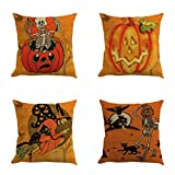 SEWORLD Halloween 4PC Home Car Bett Sofa Dekorative Brief Kissenbezug Kissenbezug B