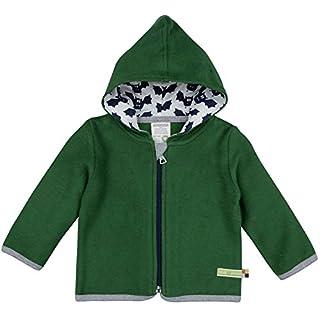 loud + proud Unisex Baby Jacke Fleece, Grün Pin, 68 (Herstellergröße: 62/68)