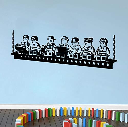 BHLTG Wohnzimmer Wandaufkleber Cartoon Robot Lego Wanddekoration Kinderzimmer Junge Zimmer Wandtattoo Dekoration Poster 58 cm * 22 cm