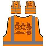 Spaß-Set Bär Personalisierte High Visibility Orange Sicherheitsjacke Weste r558vo