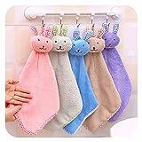 Delmkin 5pcs Cartoon Kaninchen Handtuch Süß kleine Handtücher für Küche & Badezimmer