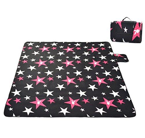 Skysper 200 x 200 cm Outdoor Picknickdecke Fleece Wasserdichte Feuchtesschutz Faltbare Matte