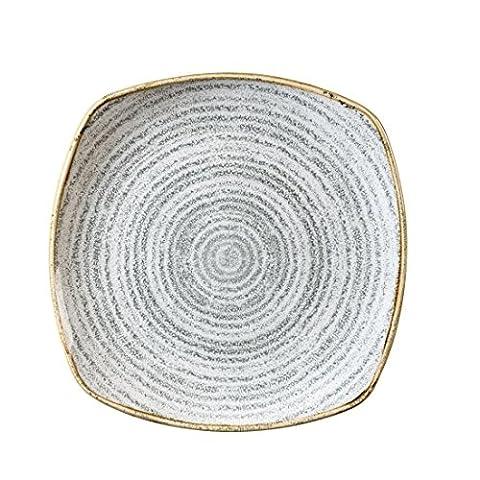 Churchill Studio Impressions Gris pierre Assiette carrée 215mm