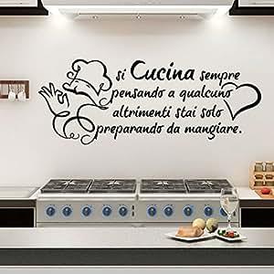 Gigio store wall sticker frase si cucina sempre pensando a for Stickers da parete ikea