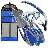 Aqua Lung Sport, Admiral LX Snorkeling Set, blau, Small