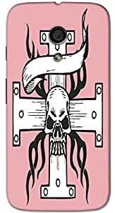 Timpax protective Armor Hard Bumper Back Case Cover. Multicolor printed on 3 Dimensional case with latest & finest graphic design art. Compatible with Motorola Moto -G-2 (2nd Gen )Design No : TDZ-26798