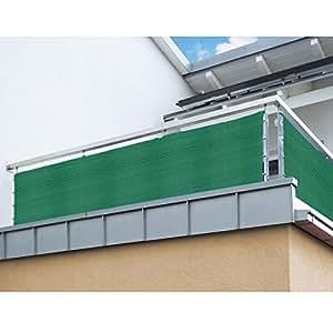 balkon sichtschutz nach ma in gr n meterware langlebiges. Black Bedroom Furniture Sets. Home Design Ideas