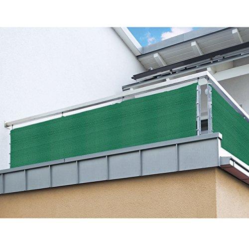 Balkon Sichtschutz nach Maß in Grün Meterware langlebiges & UV beständiges HDPE Gewebe mit Metallösen - Farbwahl