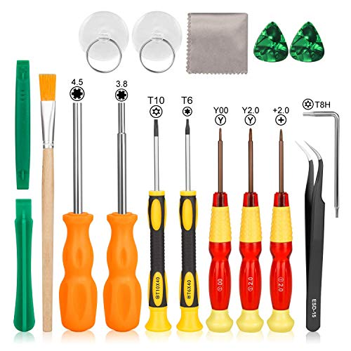 Schraubendreher für Nintendo, Keten Tri Wing Professionelles Voll Werkzeug Set für Nintendo New 3DS und Nintendo Wii /NES/SNES /DS Lite /GBA/Gamecube, Sicherheits Schraubendreher Gaming Bit Set - Nintendo-ds-tool-kit