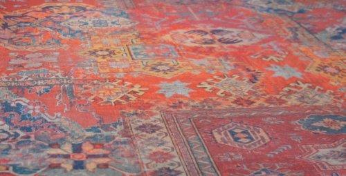 Alfombra roja Marocan Material tela estampada diseño