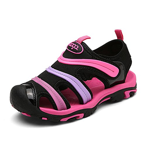 NASONBERG Jungen Sandalen, Kinder JungenMädchen Sandalette SchuheOutdoor Sport SandalenKlettverschluss SommerSchuhe,Pink,37 EU