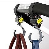 CanVivi Kinderwagen Haken 2 Stück Befestigung Clips Taschenhalter Universalhaken