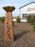 Rost Säule konisch + Schale RS91+S11 XL Säulen Blumen Deko Garten kostenloser Versand