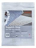 Teppich-Stop Antirutschmatte Teppichgleitschutz Teppichunterlage Haftgitter Rutschschutz, PVC beschichtetes Polyester, rutschhemmend zuschneidbar pflegeleicht strapazierfähig, weiß, 190 x 290 cm