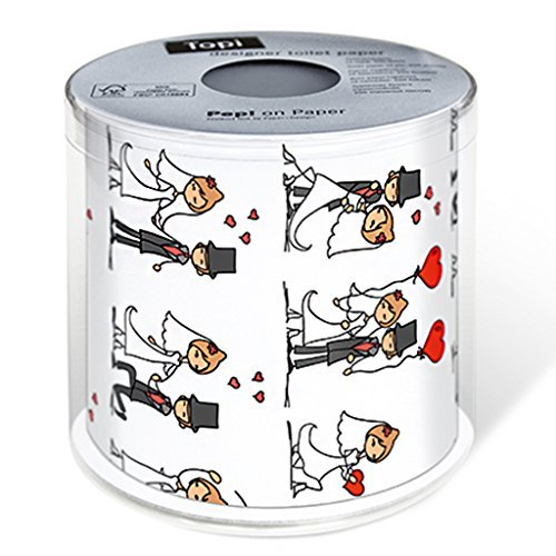 Paper + Design 00214 - Papel higiénico (200 hojas, Negro, Rojo, Color blanco)