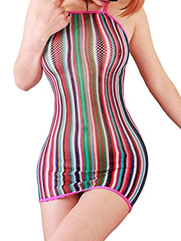 FasiCat Lingerie Mini Dress Fancy Women Chemise Negligrees Stretch for