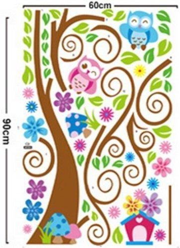 Wall Decal Stickers muraux pour chambre de bébé à motifs jungle avec lion / girafe / écureuil /...