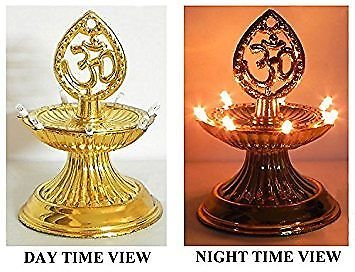 Rebuy 1 Layer Electric Diya Deepak Light Lamp LED Light for Home Temple Decor  available at amazon for Rs.200