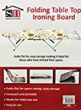 CIRCLE PRINT PORTABLE SPACE SAVING FOLDING TABLE TOP IRONING BOARD STAND 181932