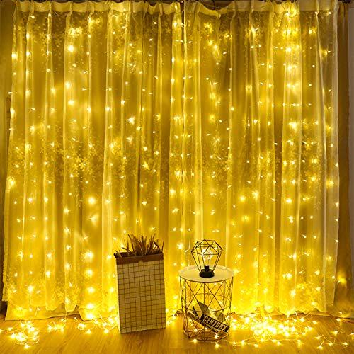 Catena di luci a LED,iEGrow 30m Catena Luminosa Impermeabili con Telecomando,Luci Natale per Decorazione Giardino, Camera da letto, Matrimonio, Natale, Vaso Feste Alberi di Natale, San Valentino
