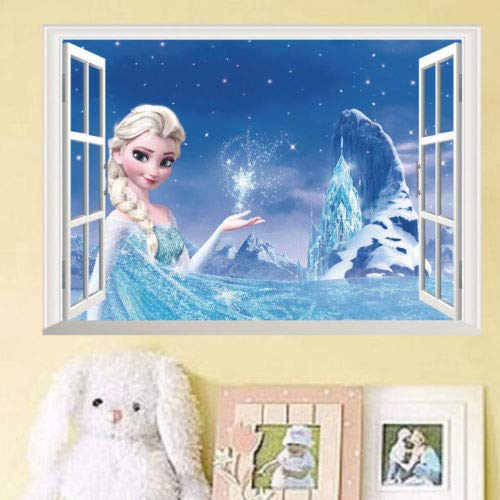 yanmeishop Cartoon gefroren ELSA Anna Prince Wandaufkleber Decals Kids Room Dekor Vinyl