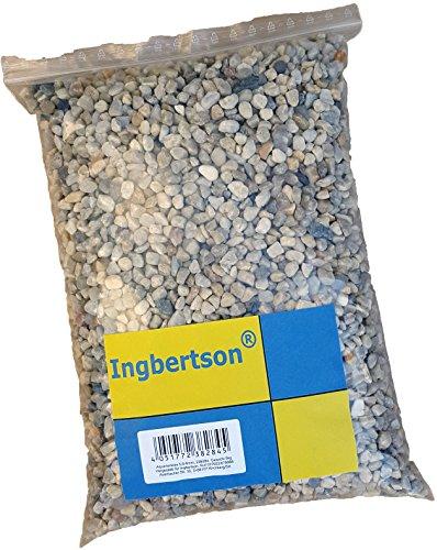 Ingbertson Colore naturale acquario pietre ciottoli substrato ghiaia, 5,6-8 mm, 5 kg
