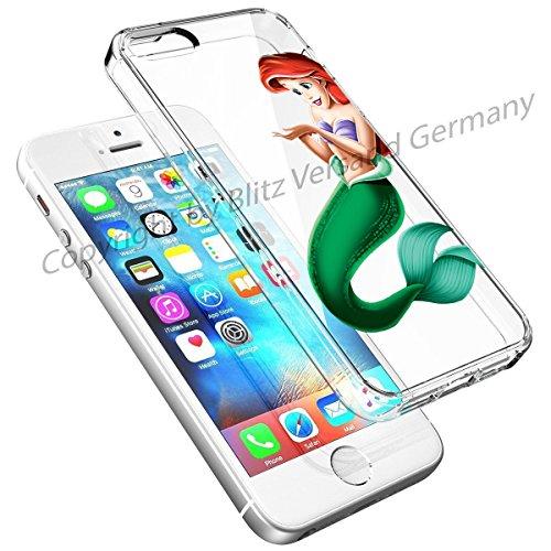 Blitz® DISNEY Schutz Hülle Transparent TPU Cartoon Comic Case iPhone 4/4s Joker/Batman Arielle, die Meerjungfrau