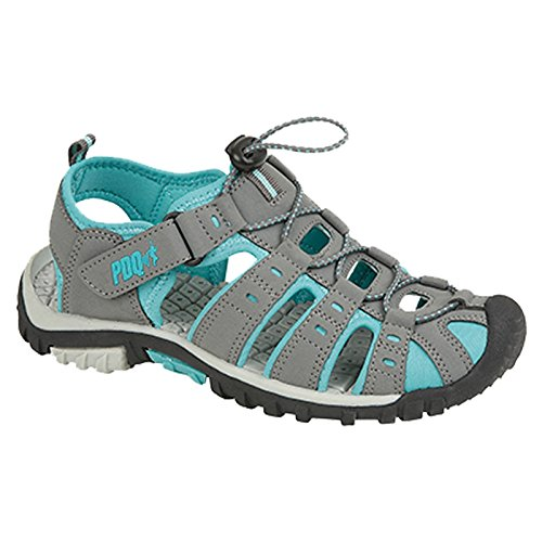 PDQ Sandales de marche Sport À bout fermé Taille 36 à 43 Gris L377KD Grey / Jade