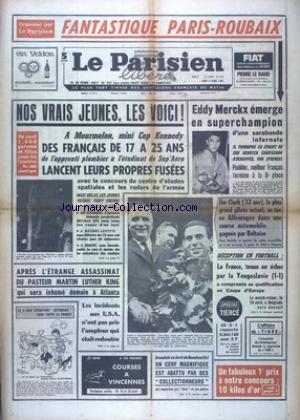 PARISIEN LIBERE GRAND FORMAT (LE) [No 7342] du 08/04/1968