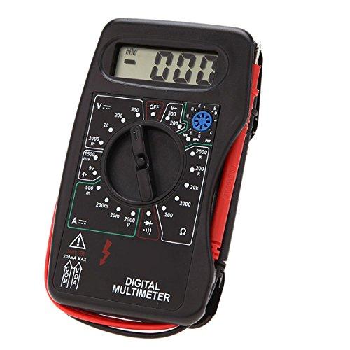 Mini multímetro digital DMM Voltímetro Amperímetro óhmetro con 30cm cables de prueba