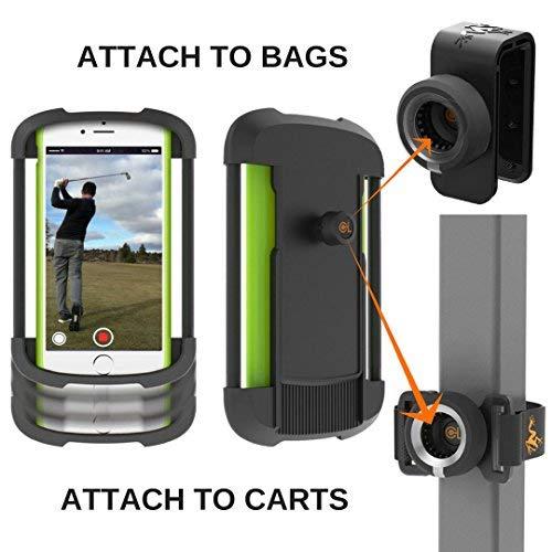 Universal Mobile Cart (Frogger Golf-Record Golf Swing Handy Latch-it-Universal Smart Phone Holder zu Befestigung Golf Taschen und Golf Carts   Teil der 2017PGA Merchandise Show Best New Product Latch-it Ökosystem)