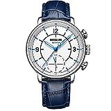 Dual Movement Intelligent Quartz Watch, Mixed Smart Reminder Pointer Business Watch,Blue