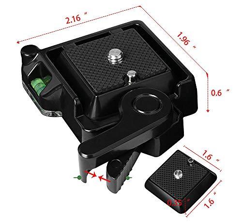 XuBa QR-40 Compact Universal Quick Release Adapter Montage Plattform QR Plate Mount Base Universal-montage-plattform
