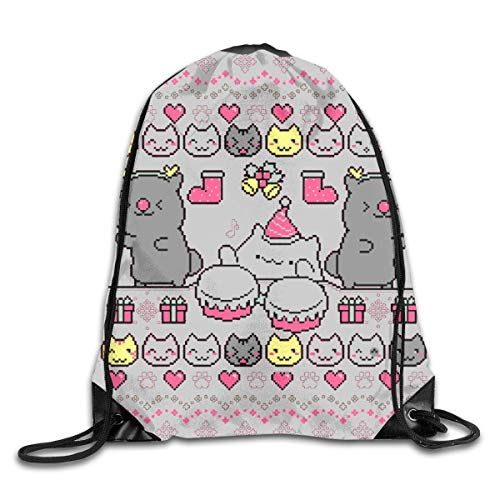kjhglp Men Women Brave Bongo Cat Dance Gym Drawstring Drawstring Backpacks Shoulder Bags Sport Sack Backpack for Home Travel Exercise Beam Mouth Package A3782