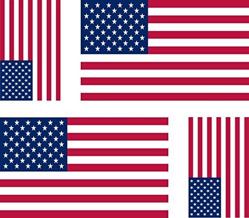 4selbstklebende Sticker für Auto/ Motorrad, Motiv: US-Flagge