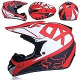 HALUOBOY Cascos de Motocross para Moto Guantes y Gafas de Sol D.T.T Quad Bike ATV est/ándar para ni/ños.