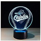 Veilleuse Rugby Logo Lumière De Nuit 3D Lumière Tactile Tactile Coloré 3D Lumière Stéréo Lumière Lumière Coloré Atmosphère, Un...